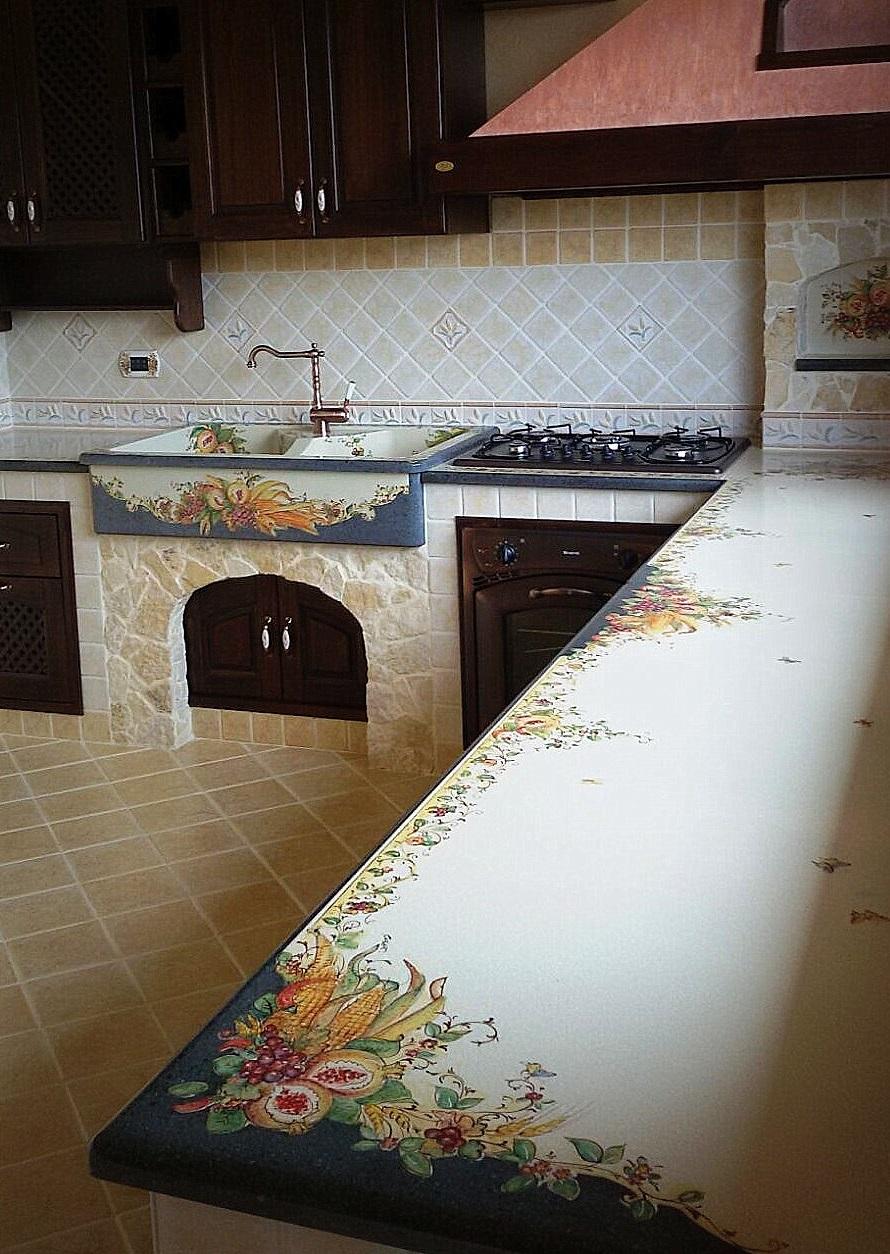 Top cucina pietra lavica giarre creart ceramiche - Top cucina in ceramica ...