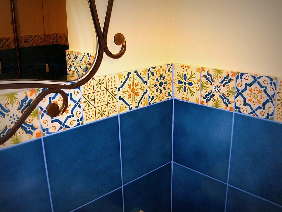 Bagni con ceramiche artistiche artigianali creart ceramiche