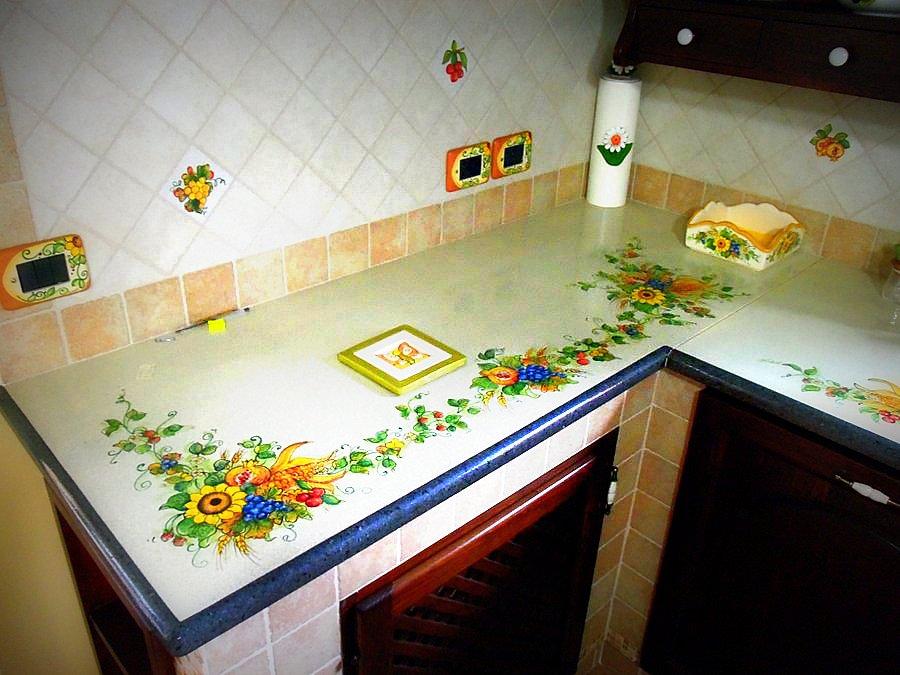 Top cucina pietra lavica giarre creart ceramiche