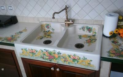 top cucine lavello